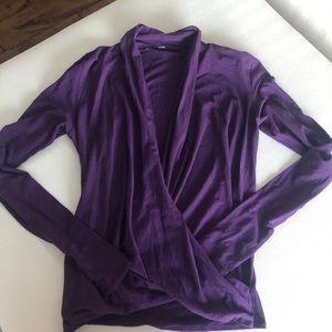 Lululemon Size 4 Cross Over Purple Top
